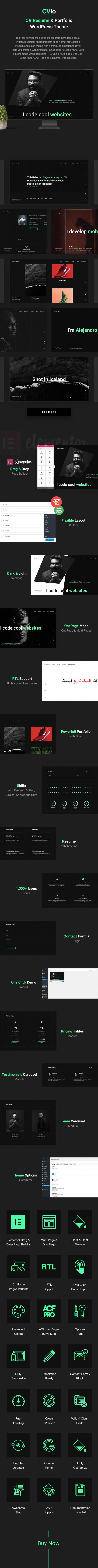 CV Resume Wordpress Theme