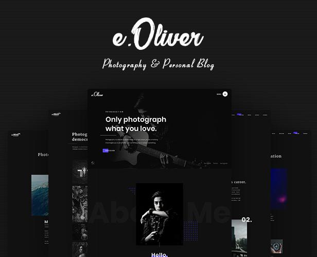 Oliver Photography/Portfolio Theme - 2