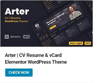 Arter WordPress Theme