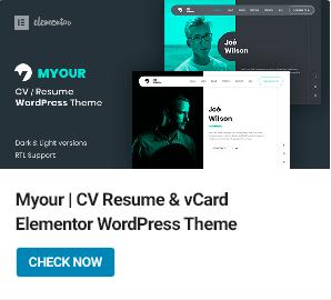 Myour WordPress Theme