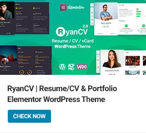 RyanCV WordPress Theme